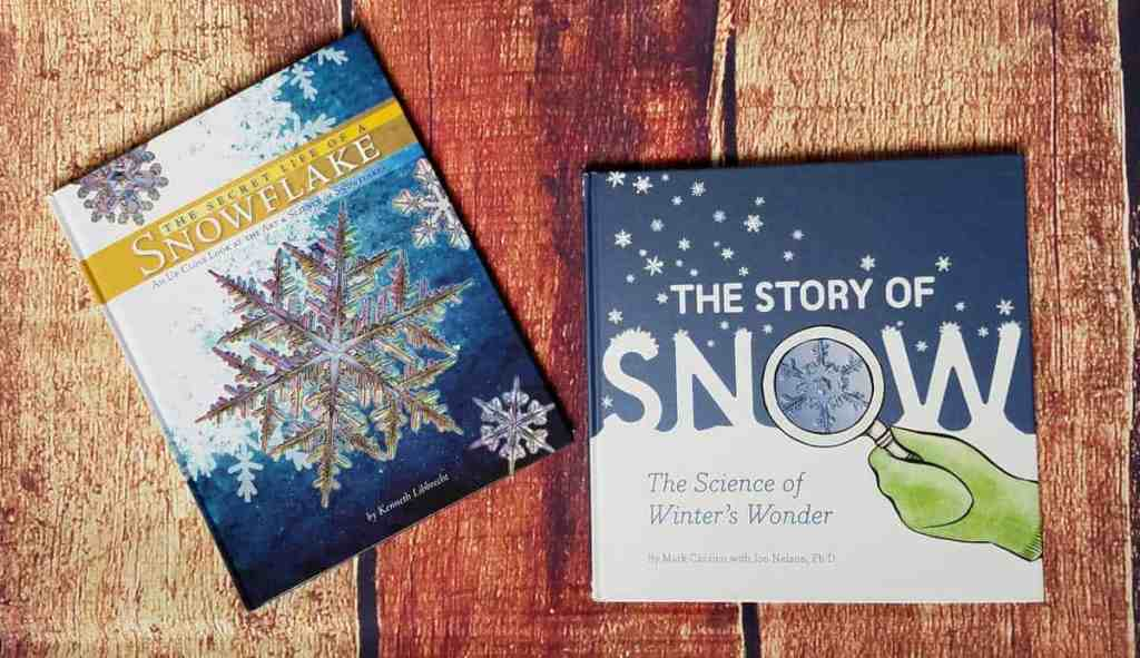 These two books are an excellent introduction to the science of snow. The Story of Snow is the easier version but if your kids are super interested, go ahead and introduce The Secret Life of a Snowflake.