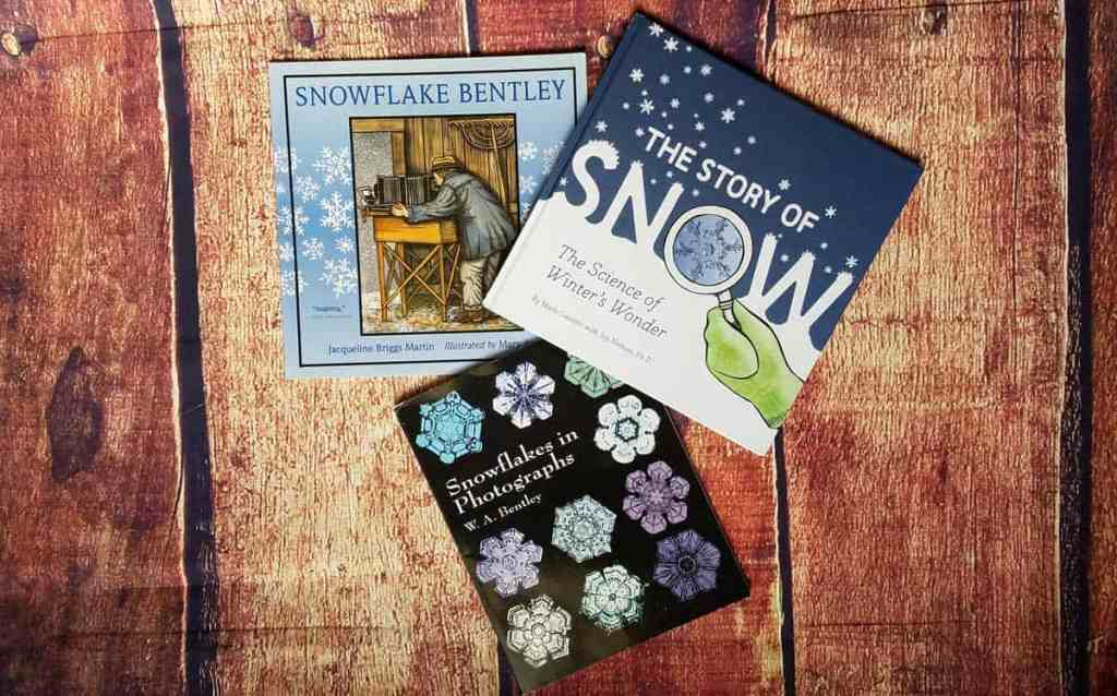 Snowflake Bentley by Jacqueline Briggs Martin, The Story of Snow by Mark Cassino, and Snowflakes in Photographs by W. A. Bentley combine to teach young children how a snow crystal is formed.