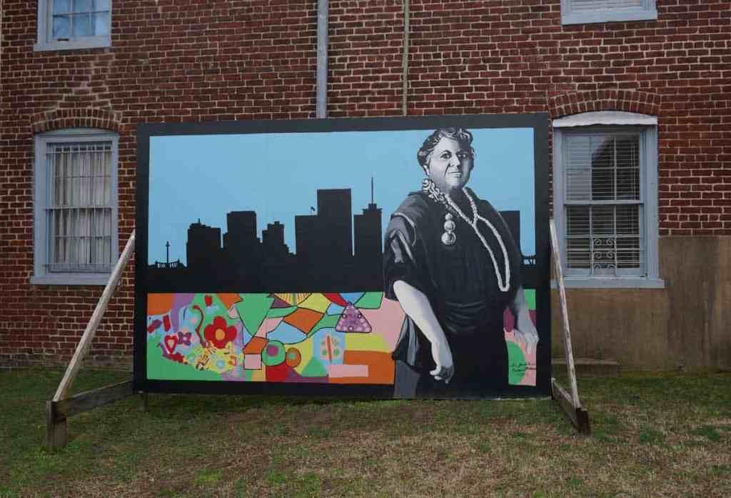 Maggie Walker National Historic Site courtyard mural