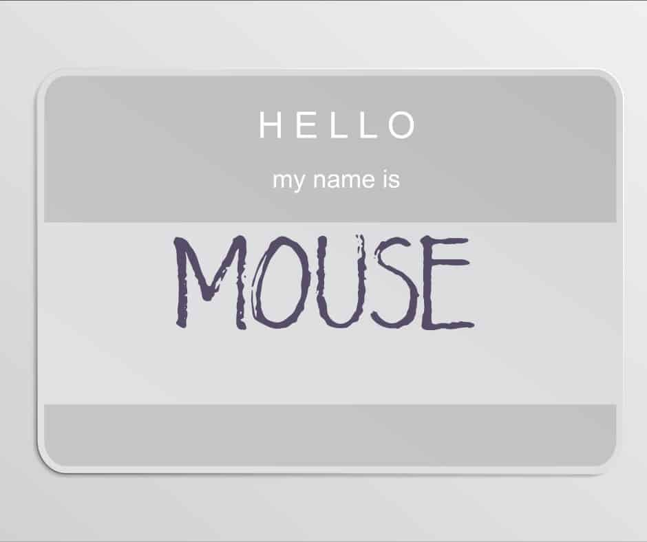My name is Mouse nametag