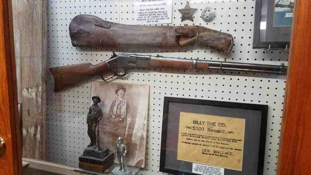 Billy the Kid relics on display at Billy the Kid Museum in Fort Sumter, NM