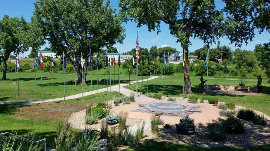 Center of the Nation in Belle Fourche, SD has a lovely garden perfect for your photo op