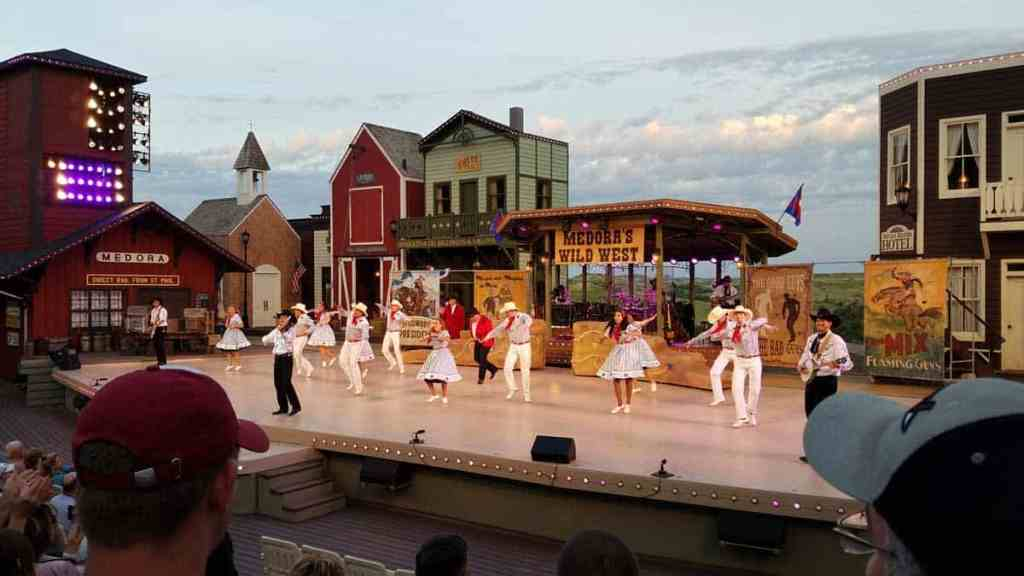The Medora Musical cast sing and dance onstage