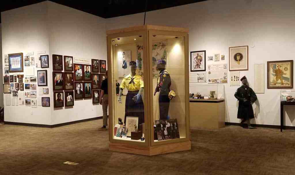 A view of the gallery at the National Scouting Museum at Philmont