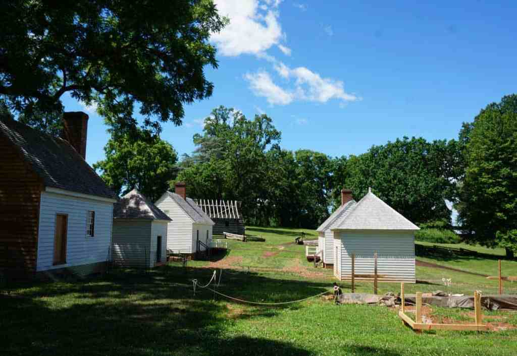 Buildings in the South Yard of Montpelier are being reconstructed to show where the slaves lived and worked.