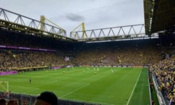 The Westfalenstadion, the home of Borussia Dortmund