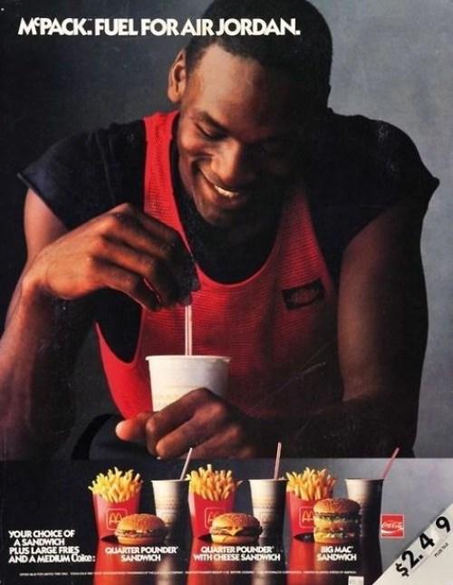 McDonald's advert featuring Michael Jordan