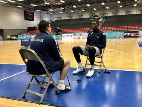 Dom Gall interviewing Ovie Soko