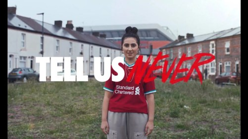Tell Us Never. Nike dropped a great video celebrating their new partnership with Liverpool FC