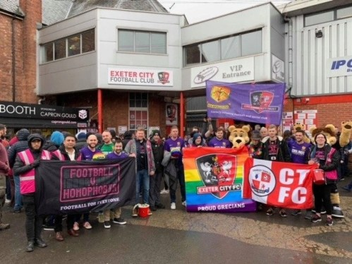 Craig played a big part in Exeter Citys Football v Homophobia campaign