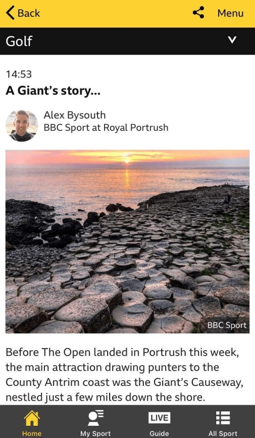 Alexs piece on the BBC Sport website