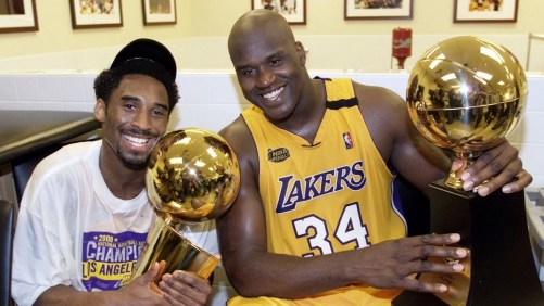 Kobe Bryant and Shaquille ONeill