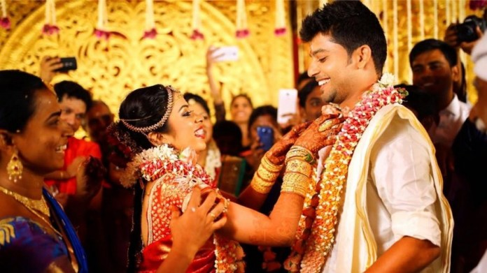 Sun Music VJ Diya Menon and Karthik Wedding