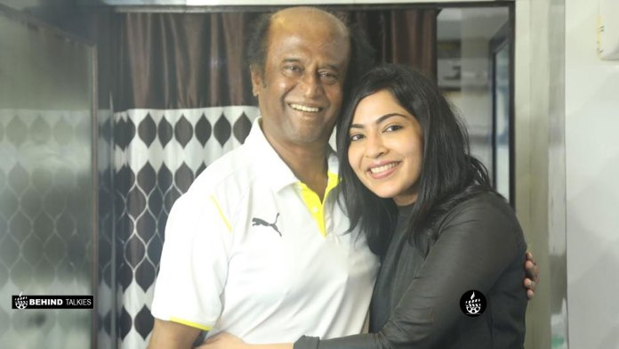 VJ Ramya with Rajini