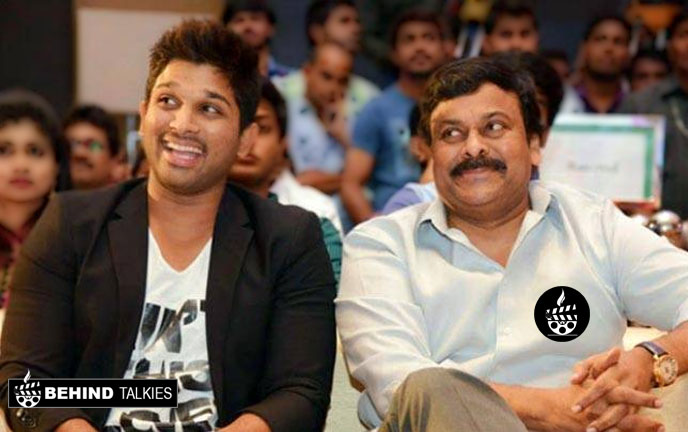 Allu Arjun with Chiranjeevi