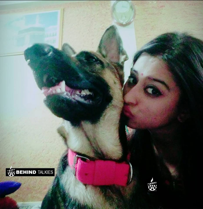 Somi Khan with her pet