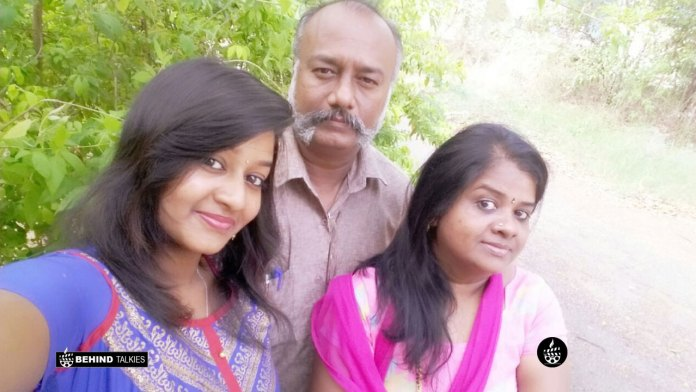 Rhema with her Father and Mother