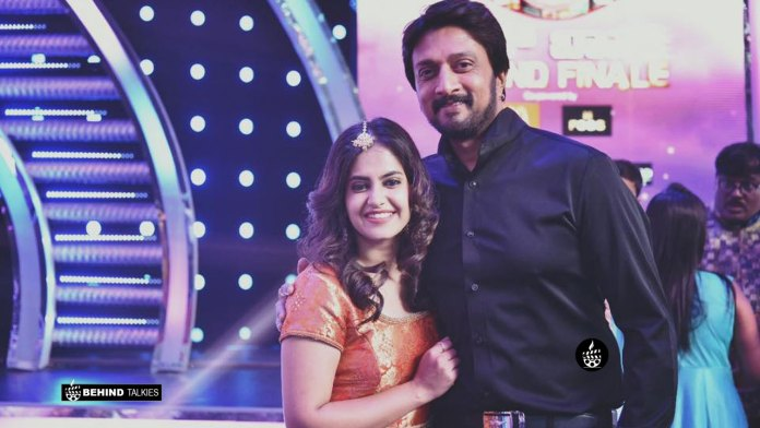 Singer Shruti Prakash with Sudeep