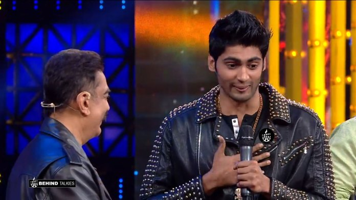 Tharshan with Kamal in Bigg Boss