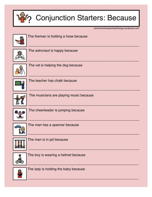 small resolution of Cordinating Conjunctions Worksheet   Printable Worksheets and Activities  for Teachers