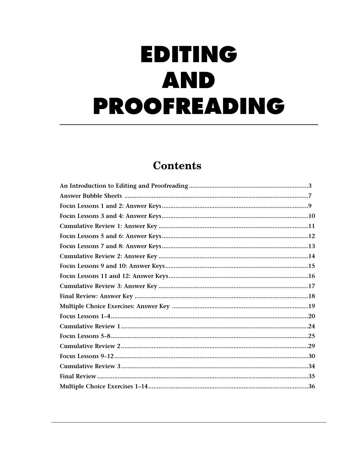 Proofreading Practice Middle School 3 Free Grammar
