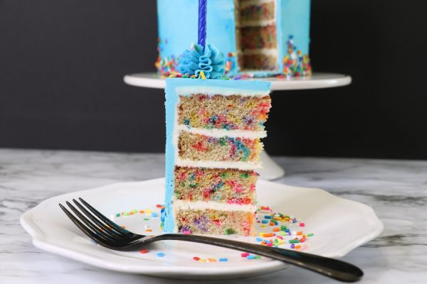 Behind The Cake ~ Confetti Cake recipe and step by step tutorial