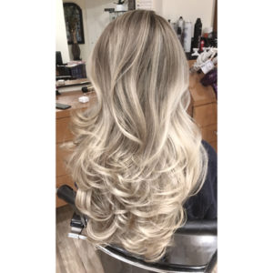 color correction blonde balayage after photo