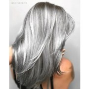 shining metallic silver