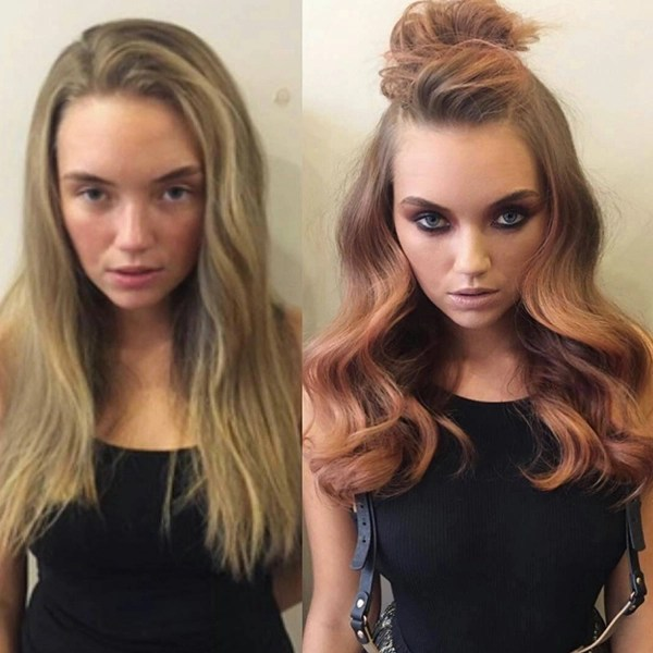 Hairstyle transformation - half updo with curls by james earnshaw
