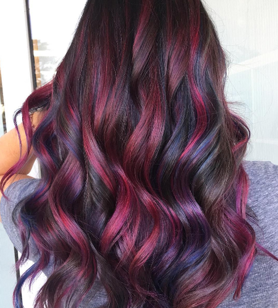 High Contrast Burgundy Waves Behindthechair Com