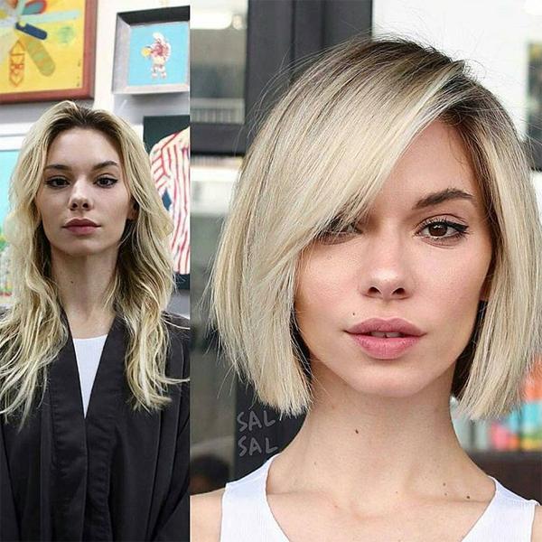 bob haircut transformation by salsalhair