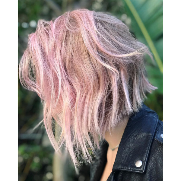 Soft Pink Color Formula Using Matrix SoColor Cult