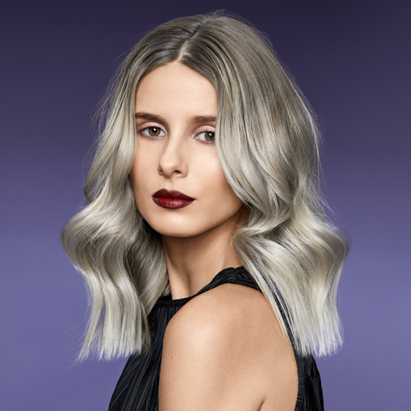 Icy Blonde Balayage Using Redken Products and Shades Eq