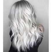 bright platinum blonde haircolor