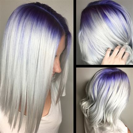Purple To Platinum Color Melt Behindthechair Com