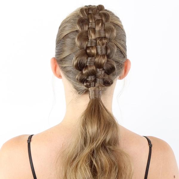 Moroccanoil How To Zipper Braid + Ponytail Technique