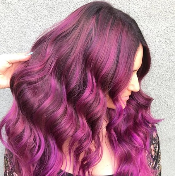 Vibrant Pink Balayage Formulas And Steps With Matrix Socolor Cult