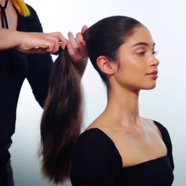 Sleek + Glam Ponytail How-To Step 1