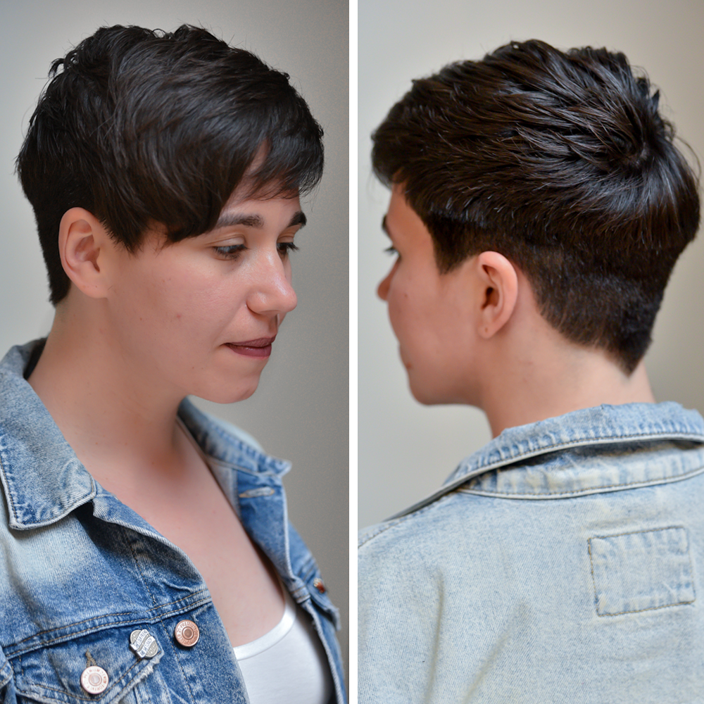Seven Haircare Michael Redhawk Pixie Transformation Long To Short How-To Cutting Techniques Steps Heavy Fringe