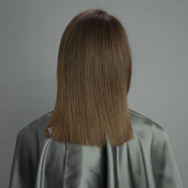 hair painting with hairtalk® extensions before