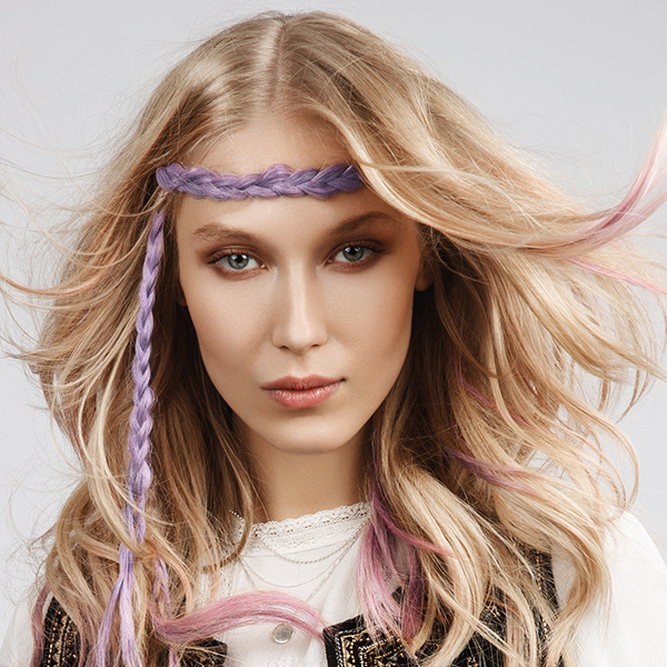 Loreal Professionel Pro Flash Hair Make-Up How-To Headband Braid Waves