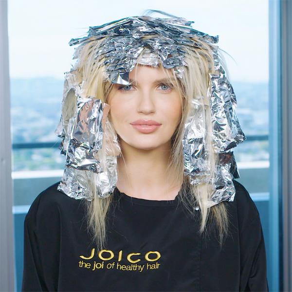 joico foiled hairline blonde haircolor technique @marissa.marino
