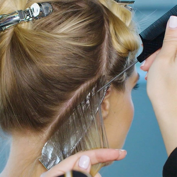 joico foiled hairline blonde haircolor technique @marissa.marino