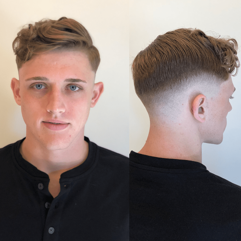 Mark Bustos American Crew Men's Barber Haircut How To Fade Texture