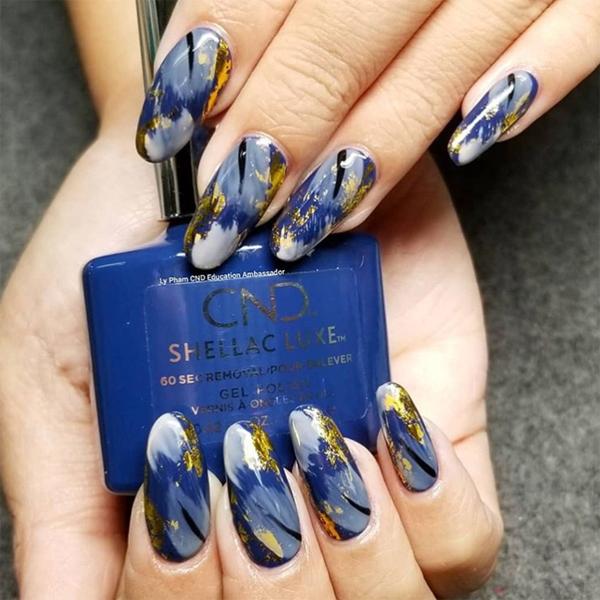 winter nail art cnd shellac luxe winter nights