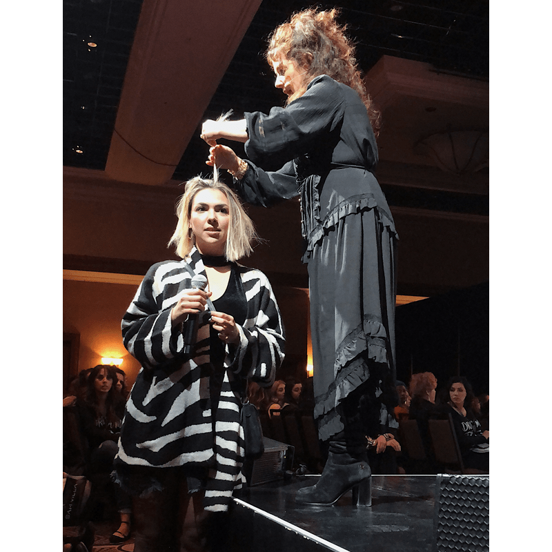 Celebrity Color Tracey Cunningham Redken Symposium 2019 Gloss and Highlight Foil Tips