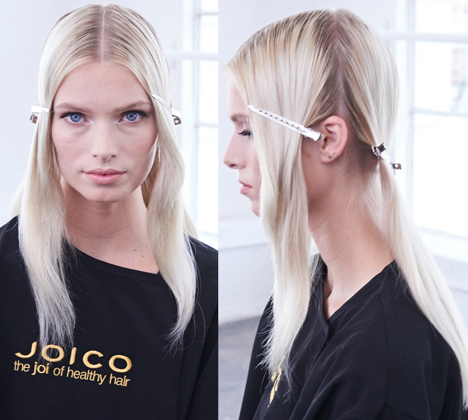 Joico Denis de Souza @denisdesouza Platinum Pearl How To Blonde Blonding Icy White Color Formula In Process Sectioning