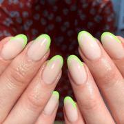 neon nail art ready