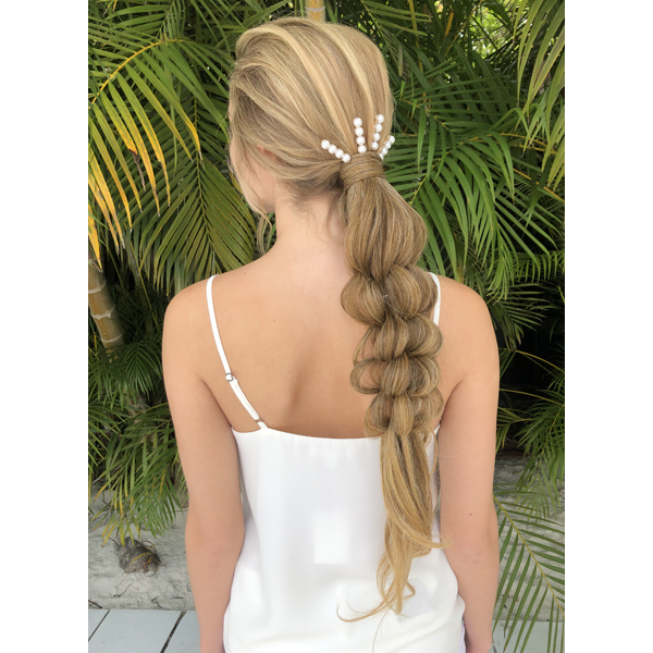 Facebook Live 2 Braided Downstyle Tutorials Festival Bridal How To Shayla Robertson @samirasjewelry Hairdo USA Extensions Pink Pewter