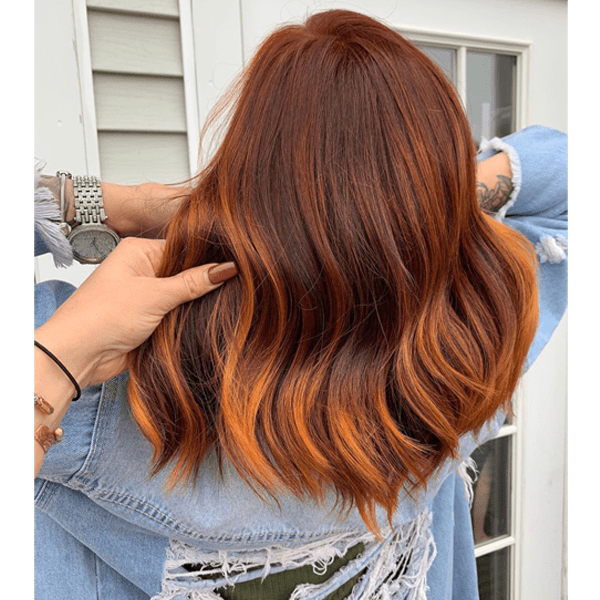 Rich Red and Copper Color Melt How To Balayage Formulas and Steps Fall Red Hair Color Trend